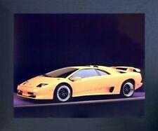 Lamborghini SV Diablo Racing Sports Car Wall Decor Espresso Framed Picture 20x24