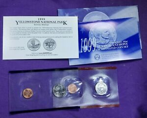 1999-P&D Susan B Anthony Mint Set * Last Year for Susan B's * COA & All Inserts