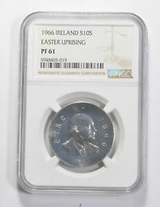 Better - PF61 1966 Ireland 10 Scilling Silver - Easter Rising - Graded NGC *144