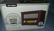 Retro Radio, Vintage Style FM Radio, Wireless, Bluetooth, Portable, Gift