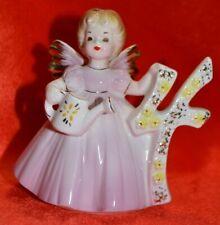 Vintage Josef Original Birthday Girl Angel - Age 4-Holding A Watering Can Japan