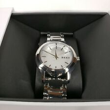 NEW DKNY Stanhope NY2209 Silver Tone Stainless Steel Polished Womens Watch NEW