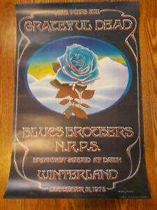 Grateful Dead Original Poster Blue Rose Closing of Winterland 12-31-78 1st Print