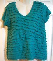 Women's Turquoise Blouse Size M