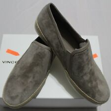 VINCE ACKER LIGHT WOODSMOKE SUEDE SLIP ON SNEAKER