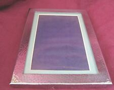 Charming Silverplate 755 Hand Hammered Finish Vintage Photo Frame Cm 456