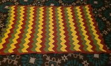Vintage Handmade Crochet Striped Afghan Throw 52 x 31