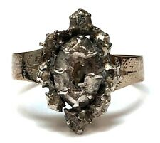 Vintage Georgian Era Reproduction Silver, Diamond & Rose Gold-Plate Ring