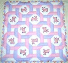 Bunnies Intertwined Baby Girl Quilt Pattern - Sewing