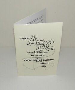 Pfaff 130 Sewing Machine Adapt A Matic Instruction  Manual