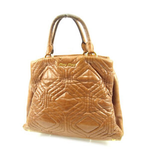 miumiu Handbag Brown Woman Authentic Used T4631