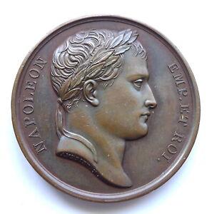 NAPOLEON 1809 BRONZE MEDAL 'ROME RETURNS TO FRANCE' AUNC TONED, 40MM, 33G, RARE.
