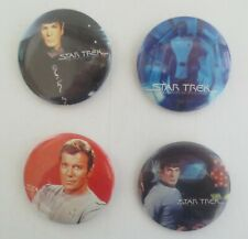 Vintage Star Trek The Motion Picture Lot Of 4 Pin Button Pinback Spock Kirk Etc
