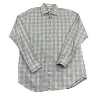 Peter Millar 100% Cotton, Plaid, Long Sleeve Button Up Shirt