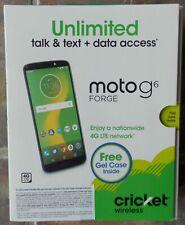 "Brand New! Cricket Moto G6 Forge Smartphone ~ SEALED Indigo Blue 16GB 13MP  5.7"""