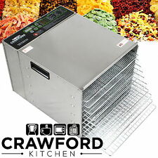New STAINLESS STEEL Commercial Dehydrator Food Fruit Jerky Dryer Tray Blower (
