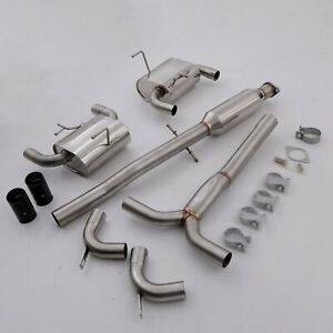 STAINLESS CATBACK EXHAUST SYSTEM CARBON TAILPIPES FOR BMW MINI R53 COOPER S 1.6