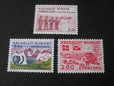 GREENLAND, SCOTT # 158+163+164(3), COMPLETE SINGLE SETS 1983-86 ISSUES MNH