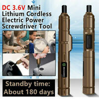 DC 3.6V Mini Lithium Cordless Electric Power Screwdriver Tool With USB Charger