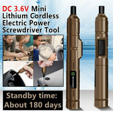 DC 3.6V Mini Lithium Cordless Electric Power Screwdriver Drill Tool USB Charger