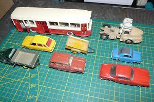 DINKY TOYS lot de vehicules en bel etat BERLIET UNIC VESPA400 4L