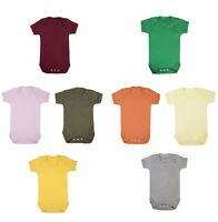 Baby Grow 100% cotton plain short sleeve bodysuit super soft babygrow boy & girl