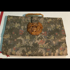 Original vintage made in France Womans Clutch Purse with Catalin Bakelite clasp