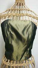Gantos Metallic Green Strapless Bustier Top Womens 10