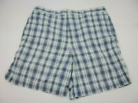 Vineyard Vines Mens Dress Casual Shorts Size 35 Green Blue Plaid Shep & Ian