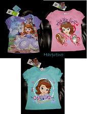 Disney Princess Sofia the First Girls Top t-shirt Purple Pink 18-24 M 1-8 y SALE