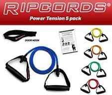 Ripcords Resistance Bands - Power Tension 5 Pack Exercise Cord Kit