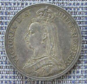 VICTORIA silver crown 1887  nice grade