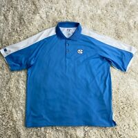 UNC Tar Heels Men's XL Blue Short Sleeve Golf Polo Shirt Antigua Basketball