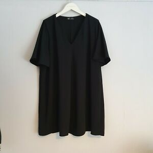 Beautiful Zara Trf Black Flare Dress Size XXL (B03)