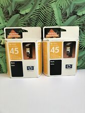 Lot of 2 Genuine HP 45 Black Ink Cartridge 51645A Sealed Retail Boxes