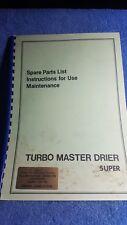 Turbo Master corn Drier super spare parts list maintenance