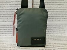 DIESEL Mens Small Flat Body Bag Mens Dk Grey Man bag Soft Pvc Shoulder Bags BNWT
