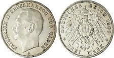 ALLEMAGNE  , BADEN , FRIEDRICH  II   ,  3  MARK  ARGENT  1909  G