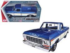 1979 Ford F-150 Pickup Truck Blue / Cream 1:24 Scale Model 79346AC-BLCRM*
