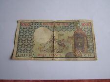 1 Billet 1000 francs RÉPUBLIQUE DU TCHAD--(( C.10--40112--))-daté 1978
