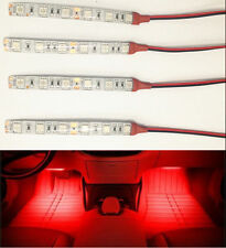4PCS Red 10cm LED Car Truck Motors Flexible Strip Light Lamp Waterproof