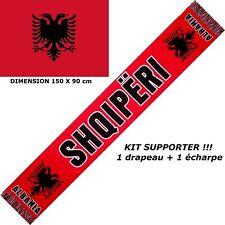 ECHARPE + DRAPEAU ALBANIE ALBANIA scarf fahne flag maillot schal sciarpa bufanda