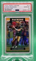 2006 Topps Chrome Aaron Rodgers Refractor Second Yr SP 🏦 PSA 10 🏦POP 28