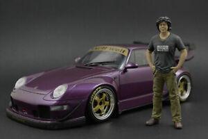 Akira Nakai-San Figure for 1:18 AutoArt Porsche RWB 964 993  !! NO CAR !!