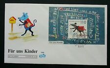 Germany - For Our Children 1999 Rat Mouse Cartoon Animation (miniature FDC)