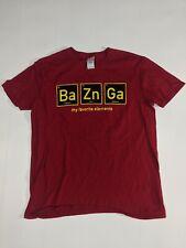 Gildan Big Bang Theory Elements Bazinga Men's Medium Graphic T Shirt Maroon