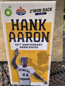 Hank Aaron Bobblehead SGA 1970's Milwaukee Brewers 50th Anniversary 2021