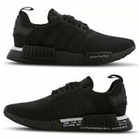 Mens Size 6-13 UK Adidas NMD R1 Japan Trainers Primeknit Black White Shoe BD7754