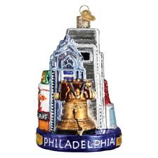 Old World Christmas Philadelphia (20092)X Glass Ornament w/Owc Box