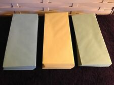 Trio of Three # 10 Business Envelopes in Blue,Yellow and Green(34 of Each Color)